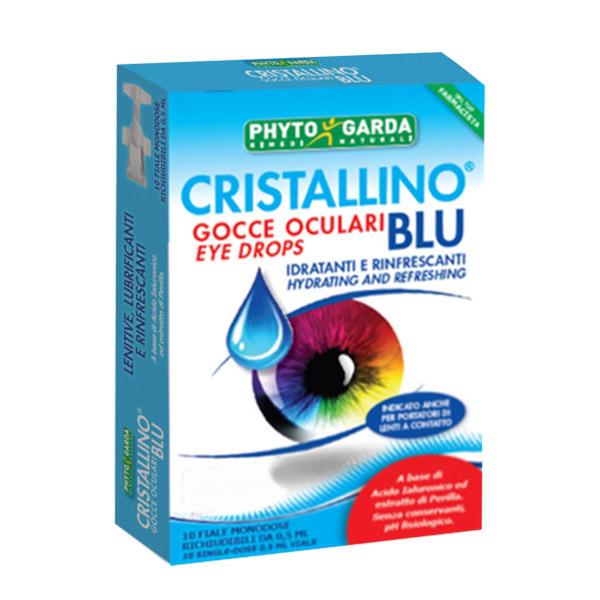 cristallino blu