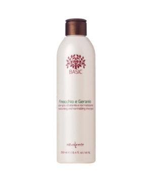 Naturalmente Shampoo Finocchio e Geranio Idratante